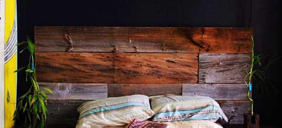 R alisations de meuble en bois de grange - Meuble tete de lit ...