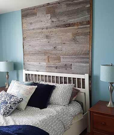R alisations de mur en bois de grange for Bois de chambre bruxelles