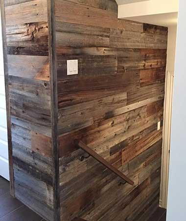 R alisations de mur en bois de grange - Mur de bois decoratif ...
